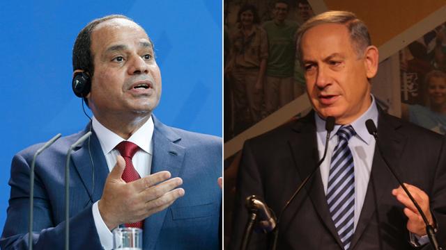 Sisi and Netanyahu (Photo: Motti Kimchi, Reuters)