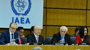 "Yukiya Amano, director general of the International Atomic Energy Agency, addresses the December 2015 meeting of the IAEA Board of Governors, which approved the final report on Iran's ""possible military dimensions."" (Photo: iaea.org)"