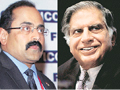 Chandrasekhar and Tata/ Source: Business Standard