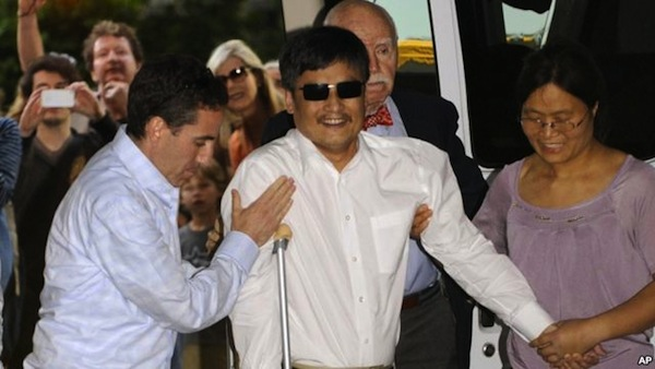 Chen Guangcheng arrives at NYU on May 19. Source: Google Images