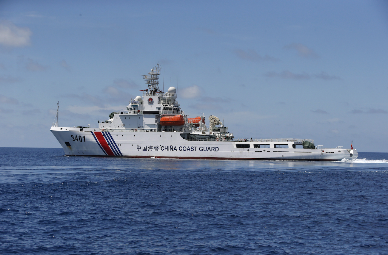 A Chinese Coast Guard vessel in the Spratly Islands of the South China Sea. (REUTERS/Erik De Castro)