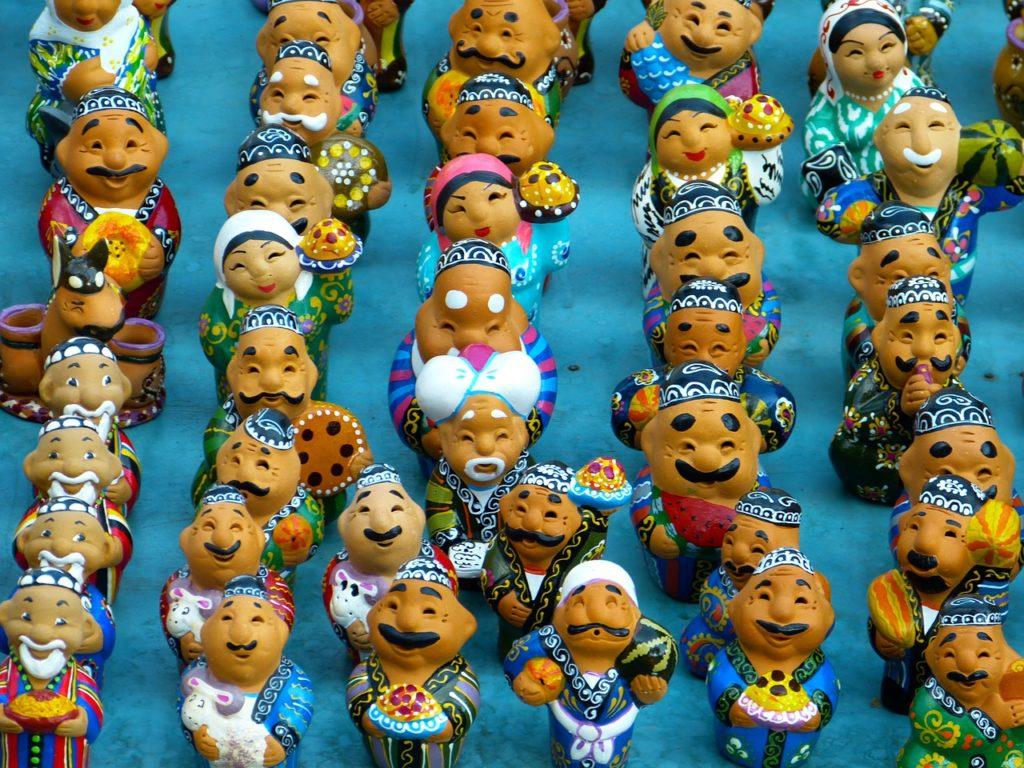 Clay figures in Uzbekistan