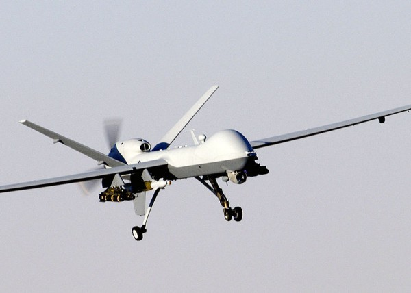 An MQ-Reaper drone in Afghanistan (U.S. Air Force photo)