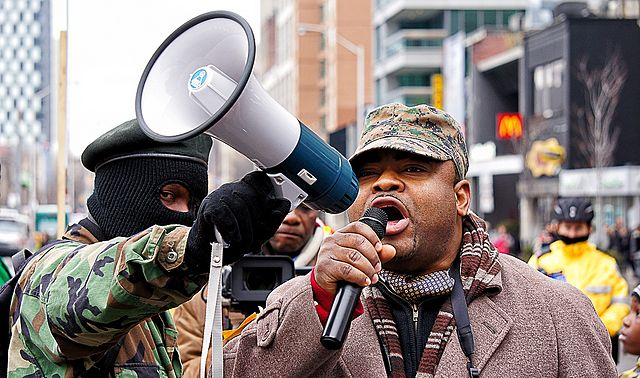 Members of the Congolese community in Toronto protest election results in the DRC, in which President Joseph Kabila was named the winner | Photo: Wikimedia