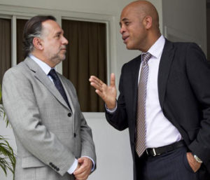Mariano Fernandez with President Martelly