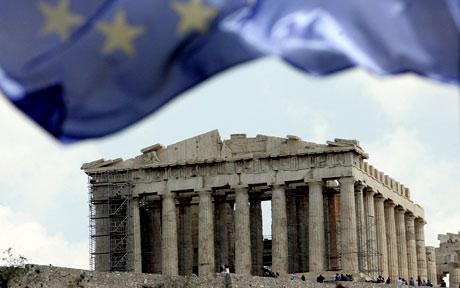 Parthenon EU flag