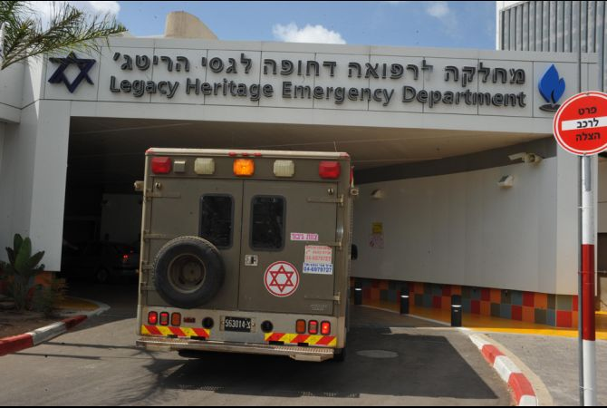 An Israeli Military Ambulance Brings Syrian Refugees to Western Galilee ICU