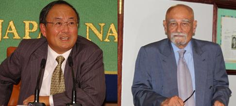 Japanese Arctic Ambassador (L) and Singaporean Arctic Ambassador (R)