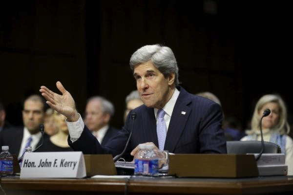 John Kerry speaks at a confirmation hearing on January 23. Source: AP