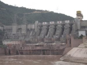Chinese Manwan Dam on Mekong