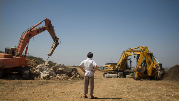 Settlement Construction in the Occupied West Bank Resumes Monday