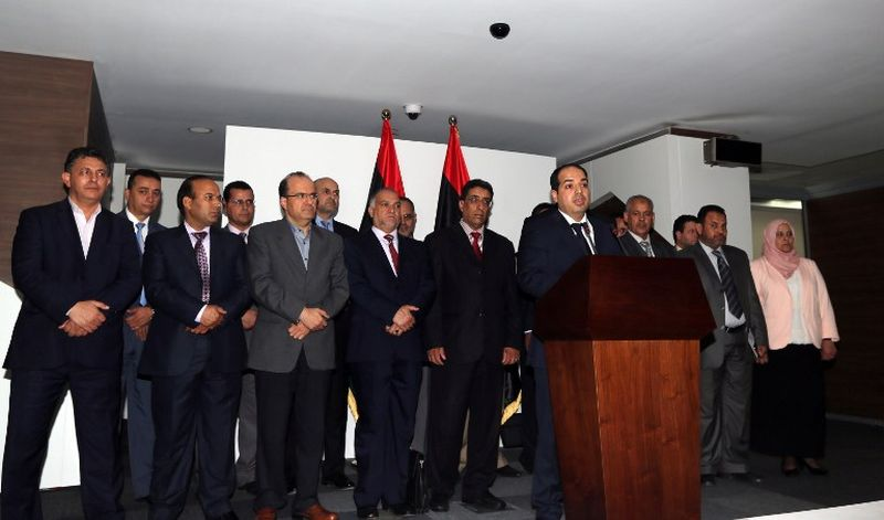 Ahmad Mitig, Prime Minister-elect of Libya, speaks to reporters on June 3, 2014. On June 9 Libya's Supreme Court ruled his appointment by the transitional parliament was illegitimate, just one example of Libya's political chaos. Photo: AFP