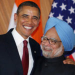 President Obama and Prime Minister Singh at their press conference in New Delhi.  Credit: PTI.