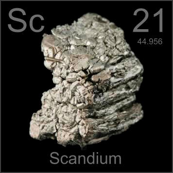 Scandium. (c) periodictable.com
