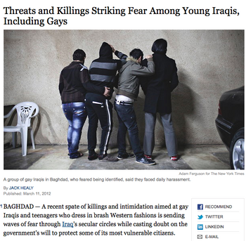 """Emo"" Eradication in Iraq"
