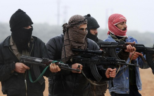 Rebels of the Free Syrian Army in Idlib, northern Syria. (Photo: publicintelligence.net)