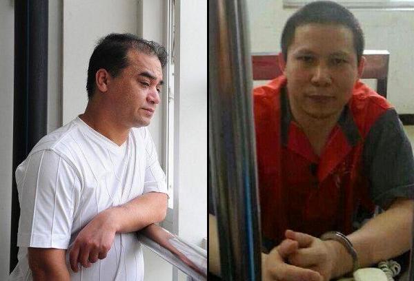 Ilham Tohti (left) and Xu Zhiyong (right).