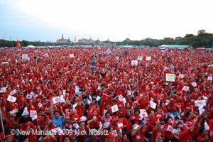 30,000 Red Shirt Protesters