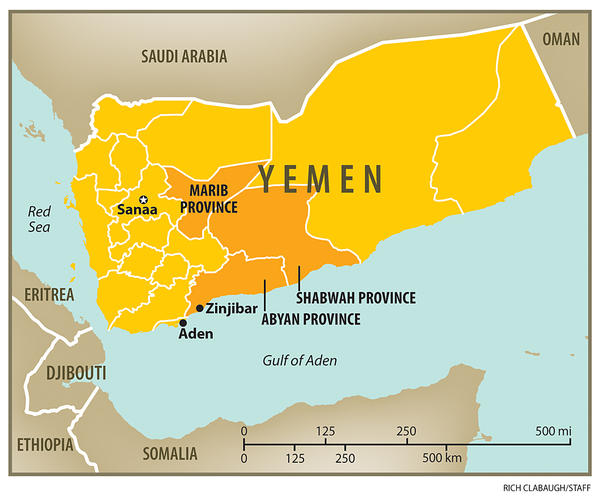 Map of South Yemen  Foreign Policy Blogs